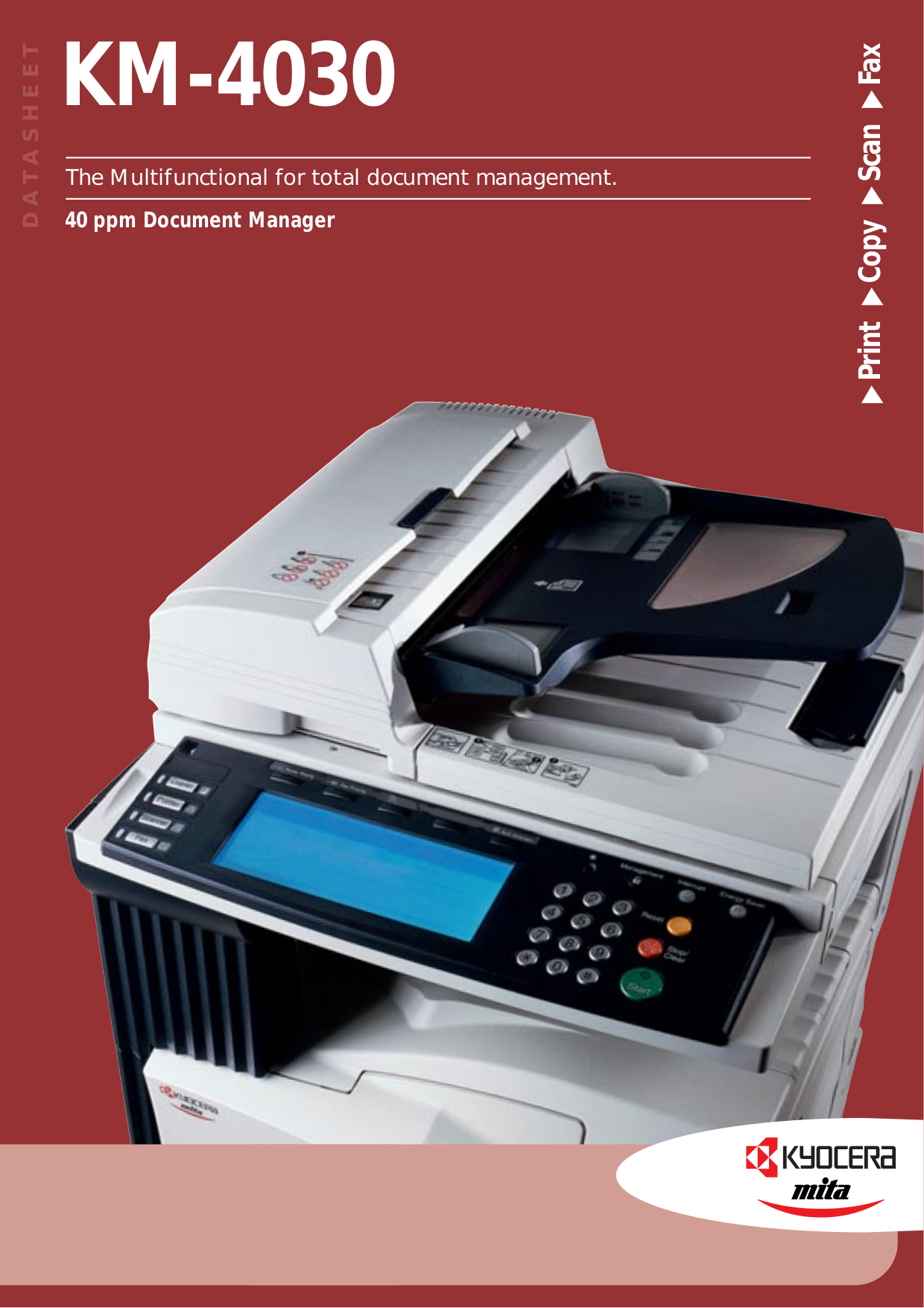 Download free pdf for Kyocera KM-4030 Multifunction Printer manual