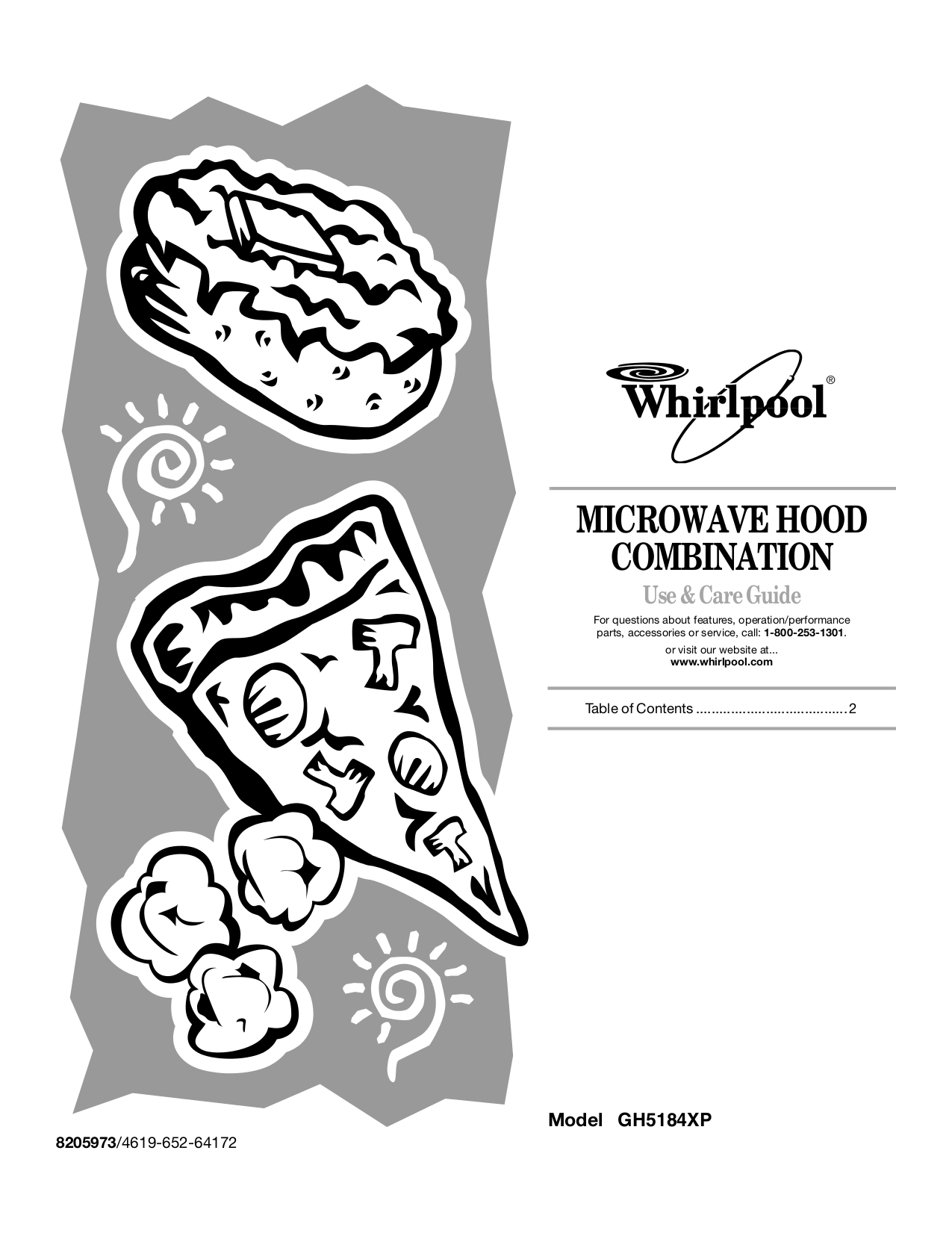 pdf for Whirlpool Microwave GH5184XP manual