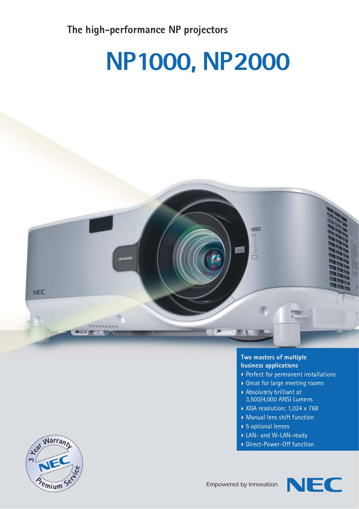 download free pdf for nec np1000 projector manual rh umlib com NEC NP2000 User Manual NEC NP2000