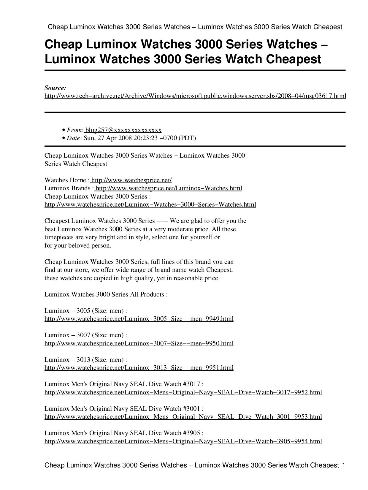 pdf for Luminox Watch Navy SEAL 3005 manual