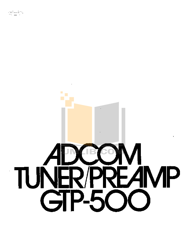 pdf for Adcom Other GFS-300 Audio-speaker selector manual