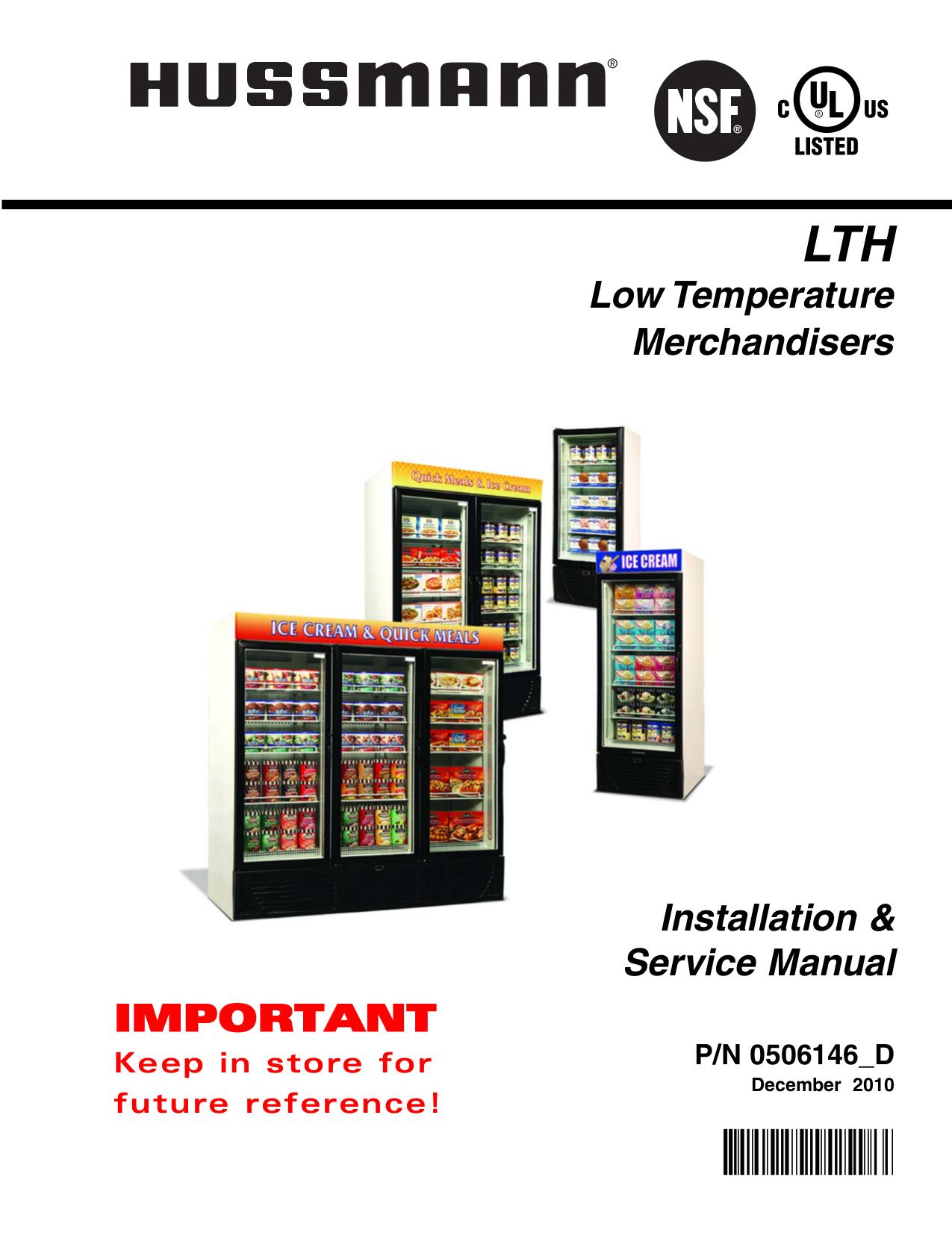 pdf for Hussmann Freezer ARV manual