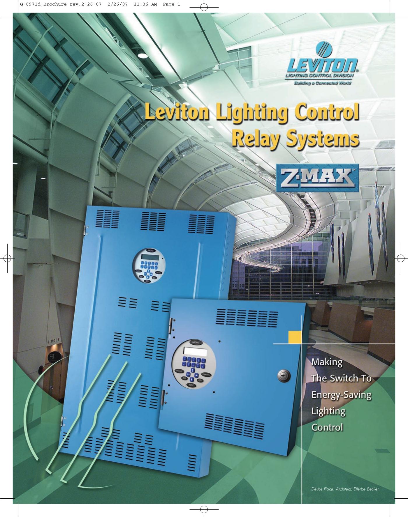 pdf for Leviton Other miniZ mZd30-101 Harvesting Controller manual