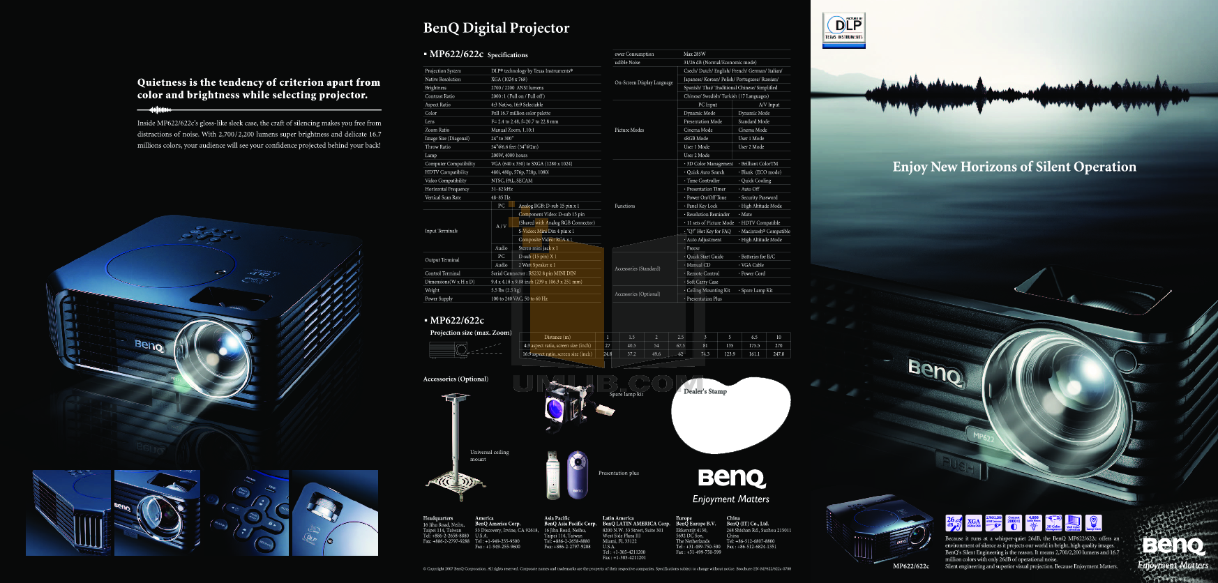 pdf for Benq Projector MP622C manual