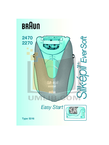 pdf for Braun Other Silk-epil EverSoft 2270 Epilators manual