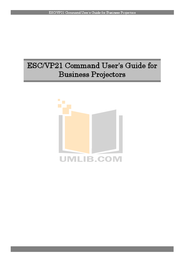 pdf for Epson Projector EMP-9300 manual
