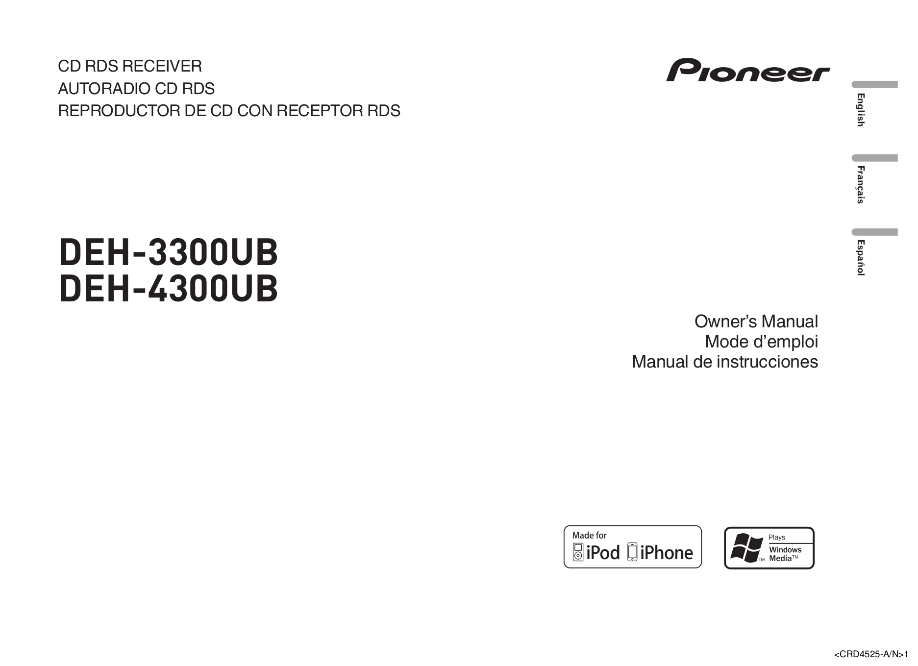 download free pdf for pioneer deh 3300ub car receiver manual rh umlib com Pioneer DEH-3300UB Manual Pioneer Deh 3300