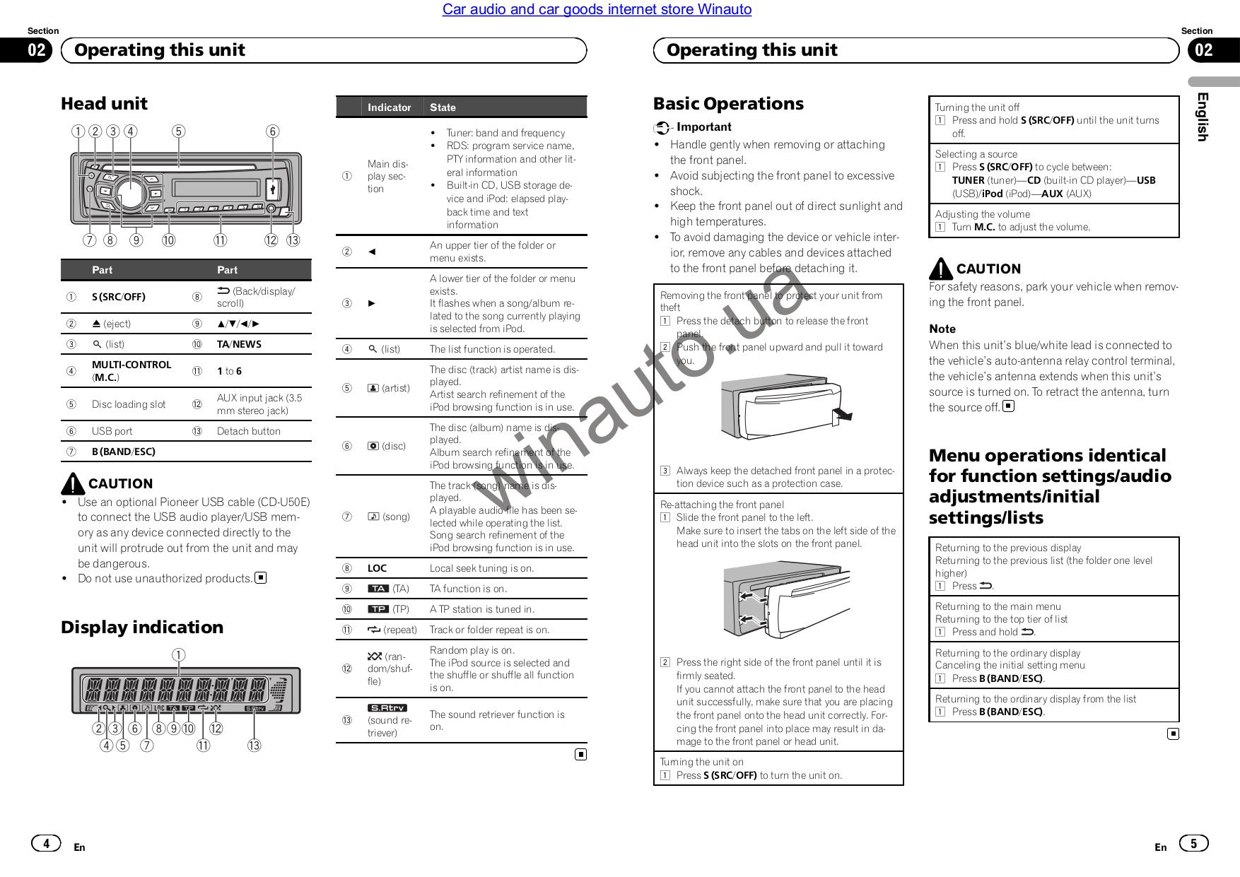 pdf manual for pioneer car receiver deh