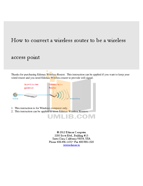 pdf for Edimax Wireless Router BR-6504n manual