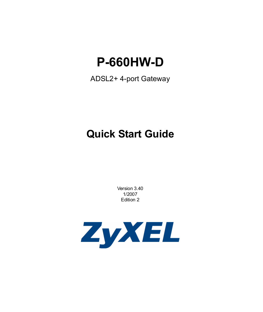 pdf for Zyxel Other P-660H-D3 Gateways manual