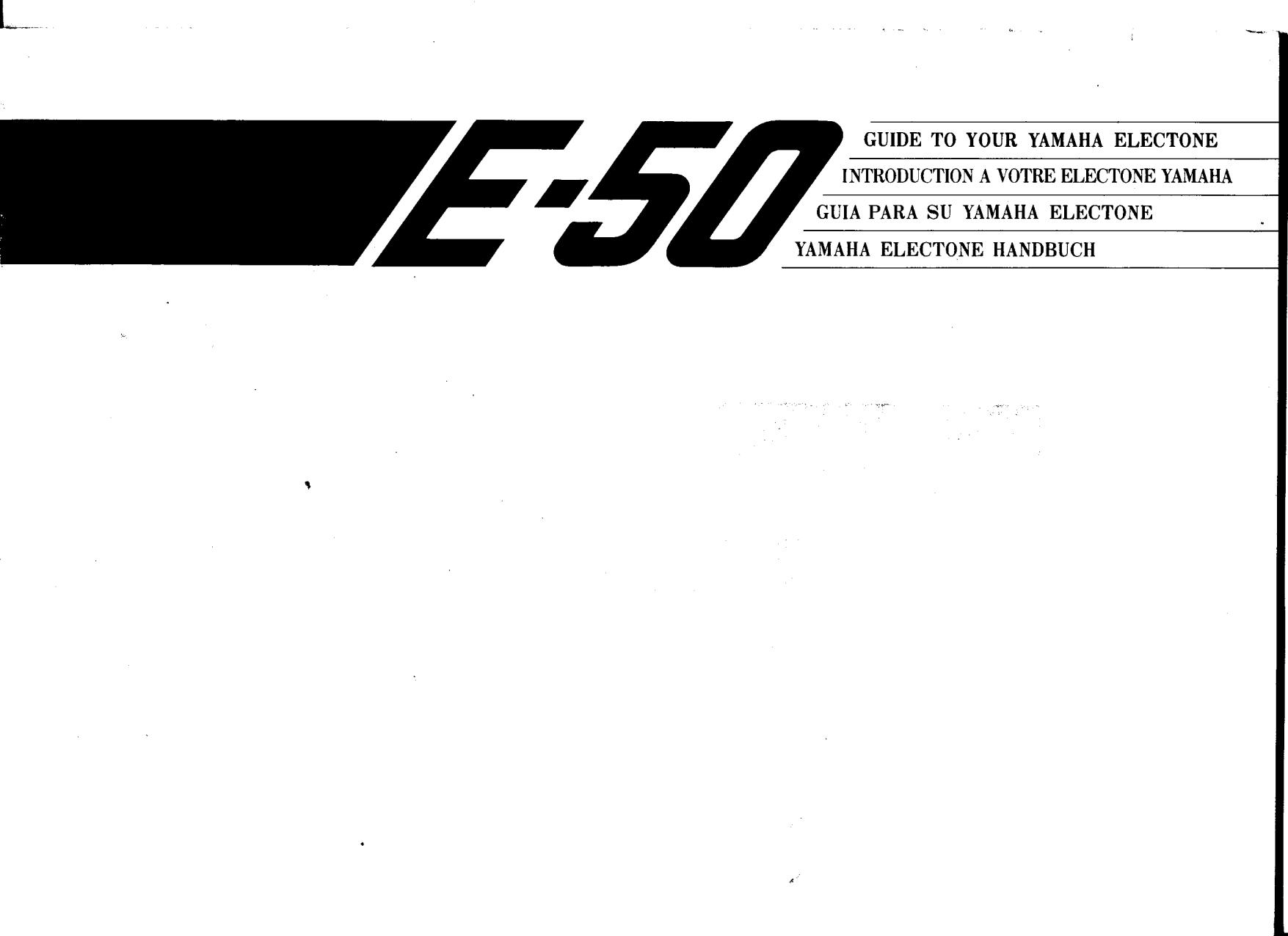 pdf for Yamaha Music Keyboard E-50 manual