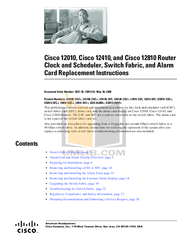 pdf for Cisco Router 12410 manual