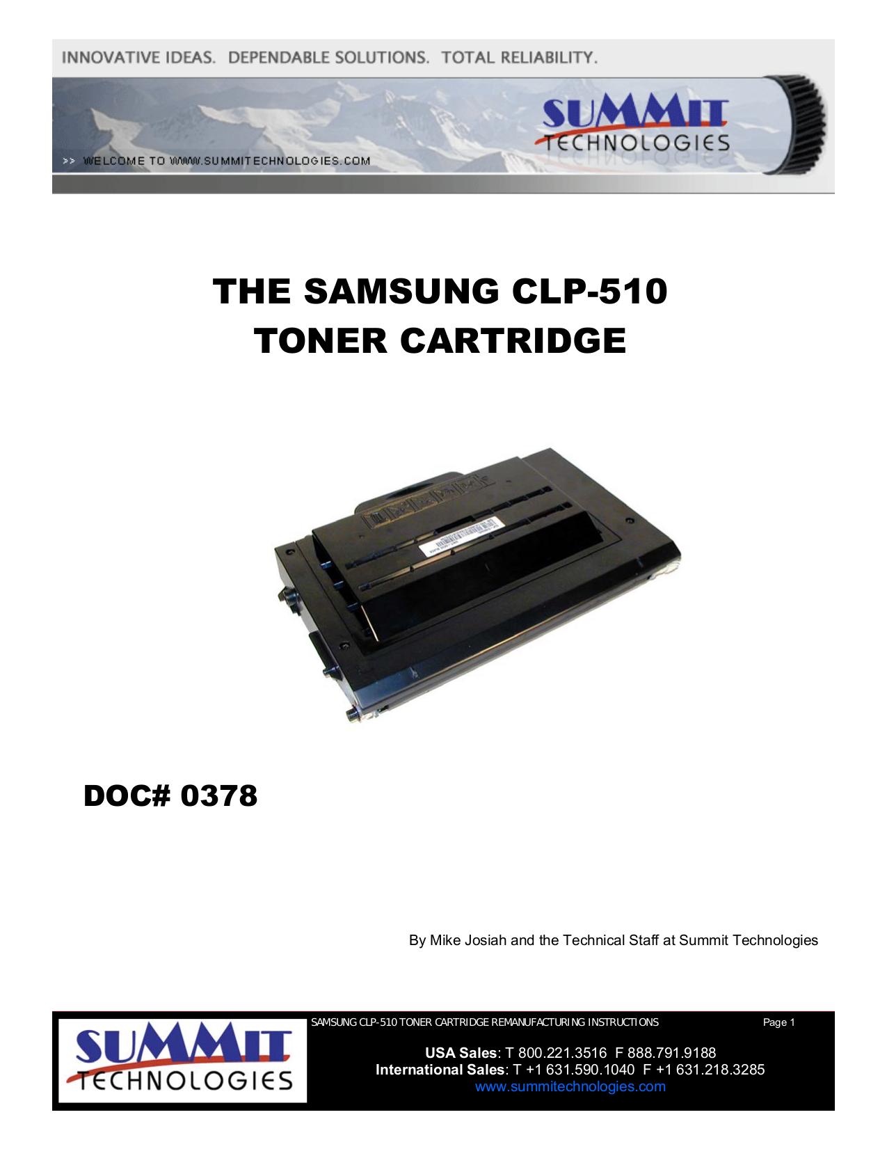pdf for Samsung Printer CLP-510 manual