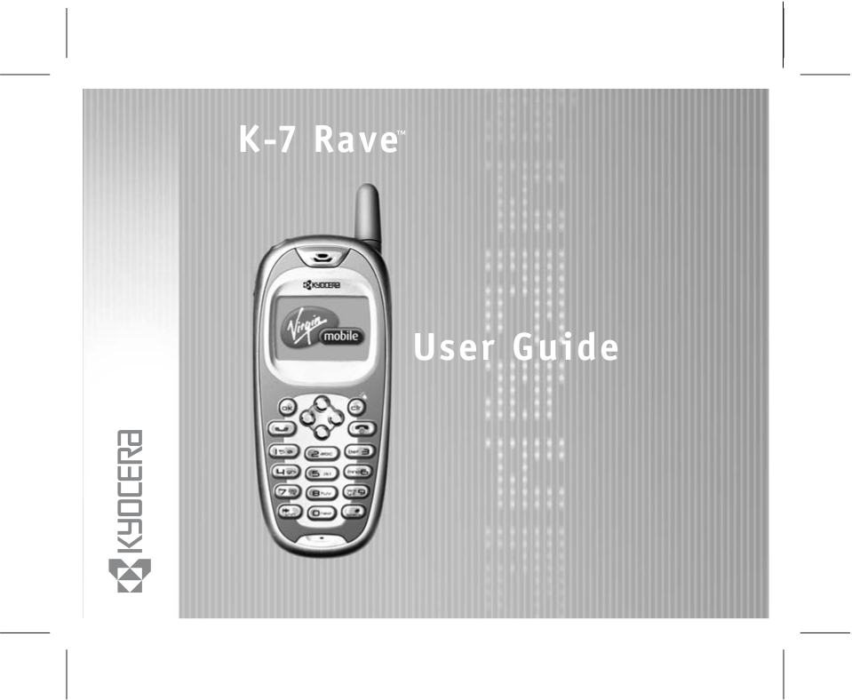 pdf for Kyocera Cell Phone Rave KE433 manual