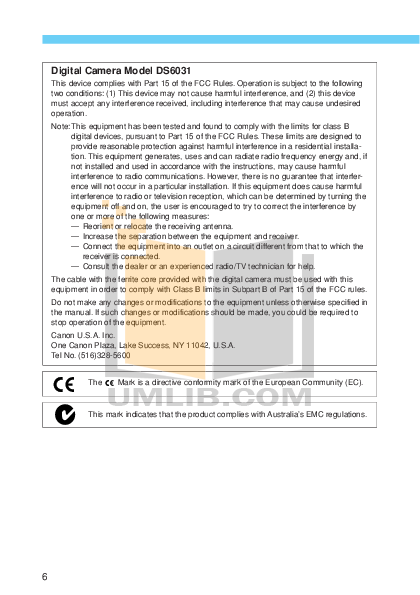 Canon Digital Camera EOS 10D pdf page preview