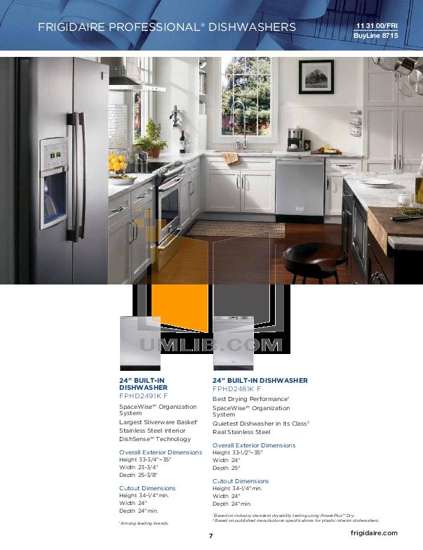 Frigidaire Dryer FAQG7073K pdf page preview