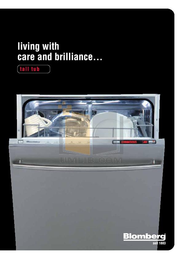pdf for Blomberg Dishwasher DWT34220 manual