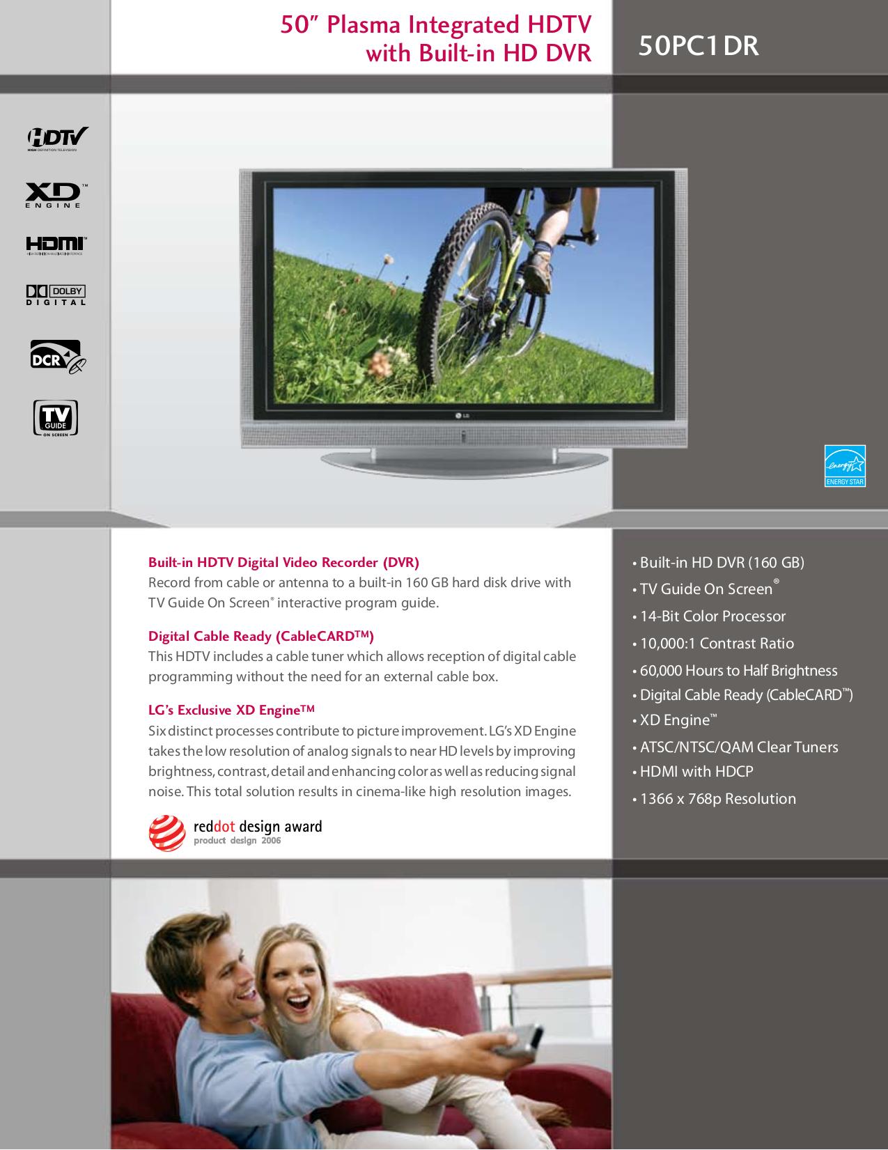 pdf for LG TV 50PC1DR manual
