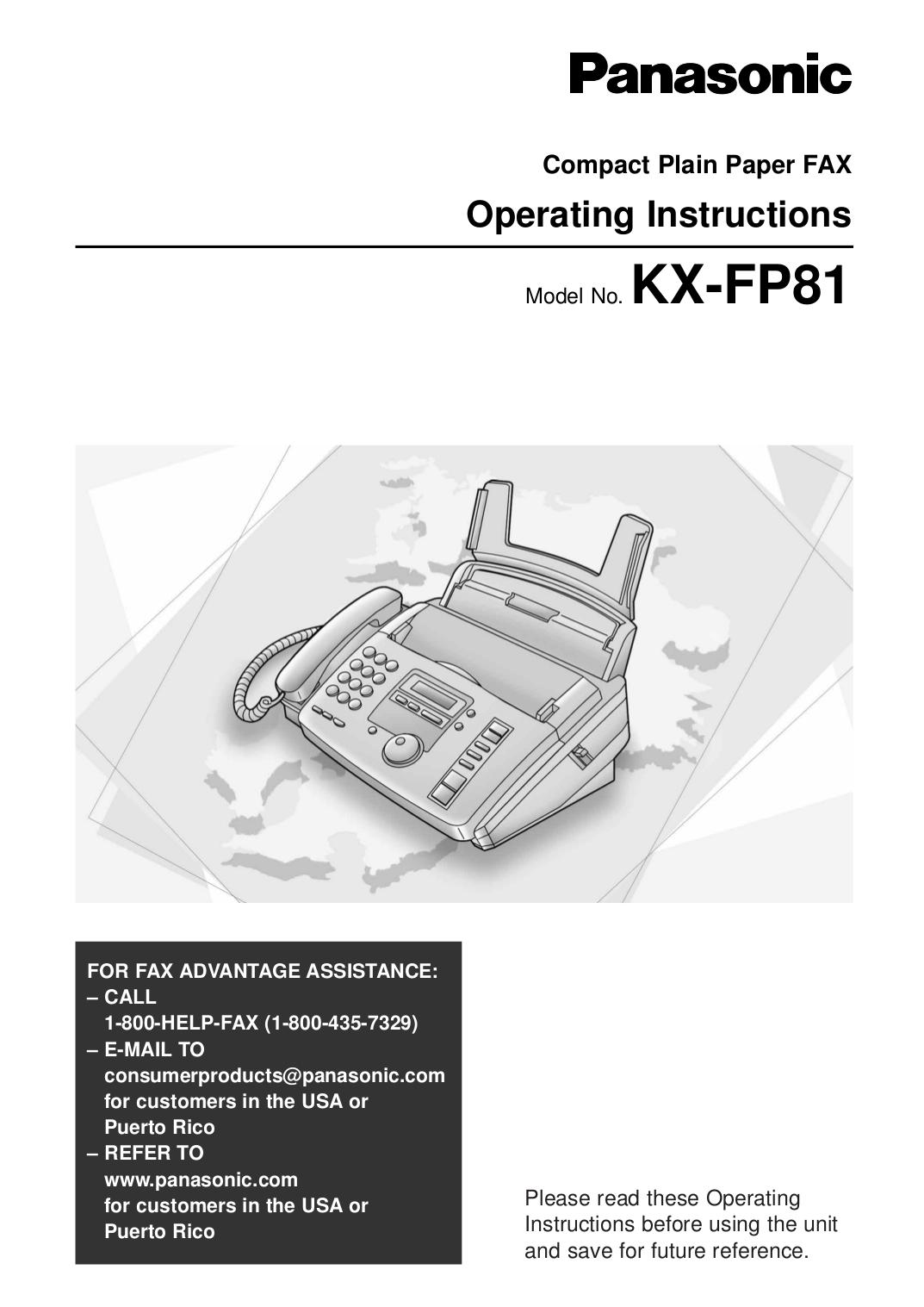 Факс panasonic инструкция