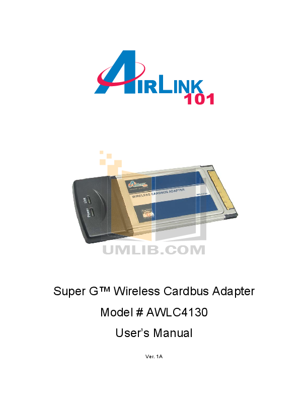 pdf for Airlink Other AWLC4130 Adapters manual
