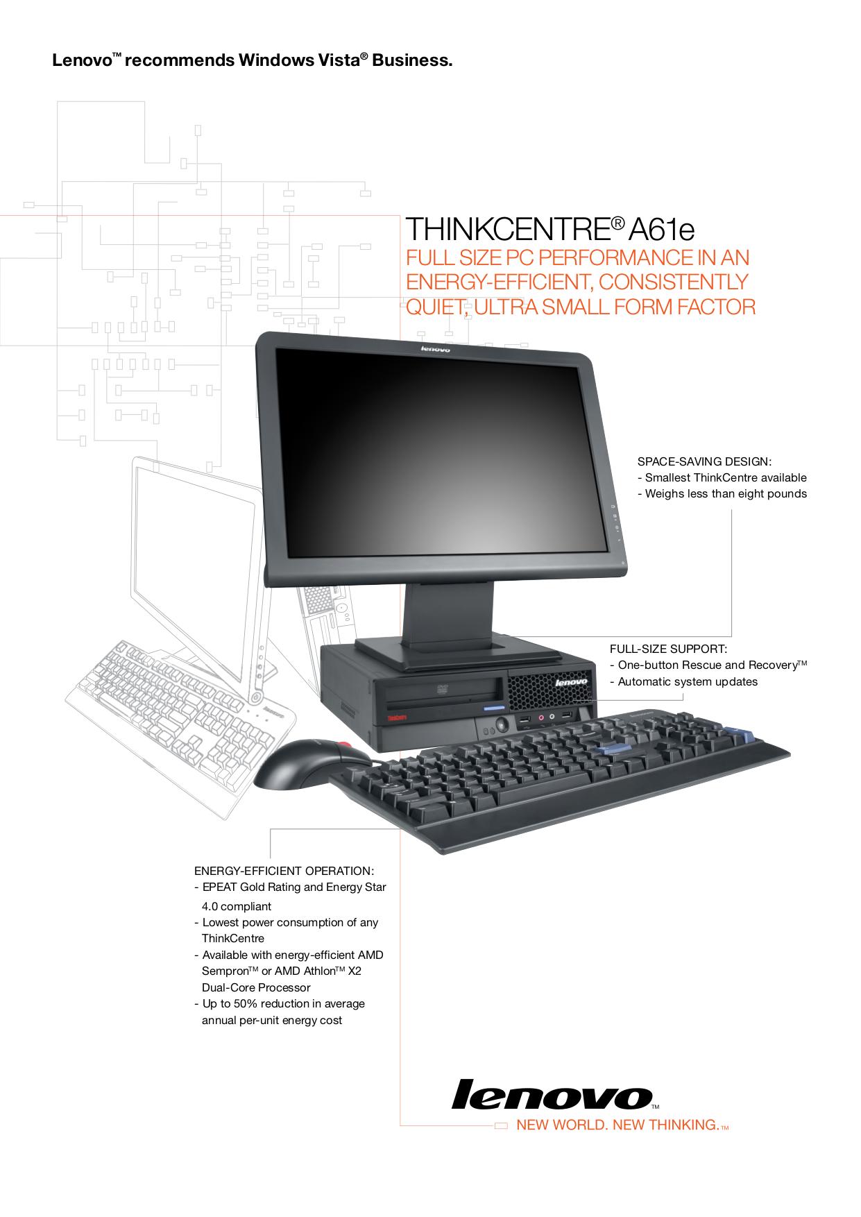 pdf for Lenovo Desktop ThinkCentre A61e 6449 manual