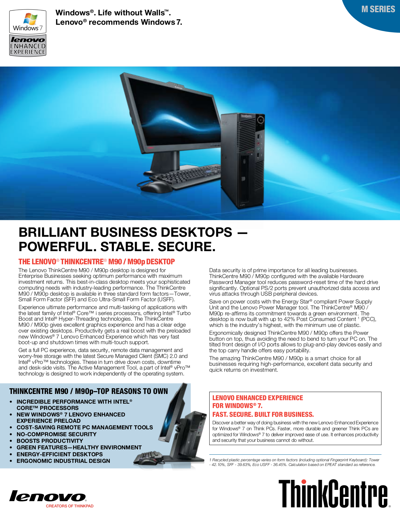 pdf for Lenovo Desktop ThinkCentre M90p 5296 manual