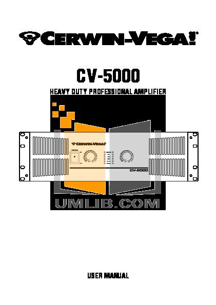 cerwin vega cv 5000 manual