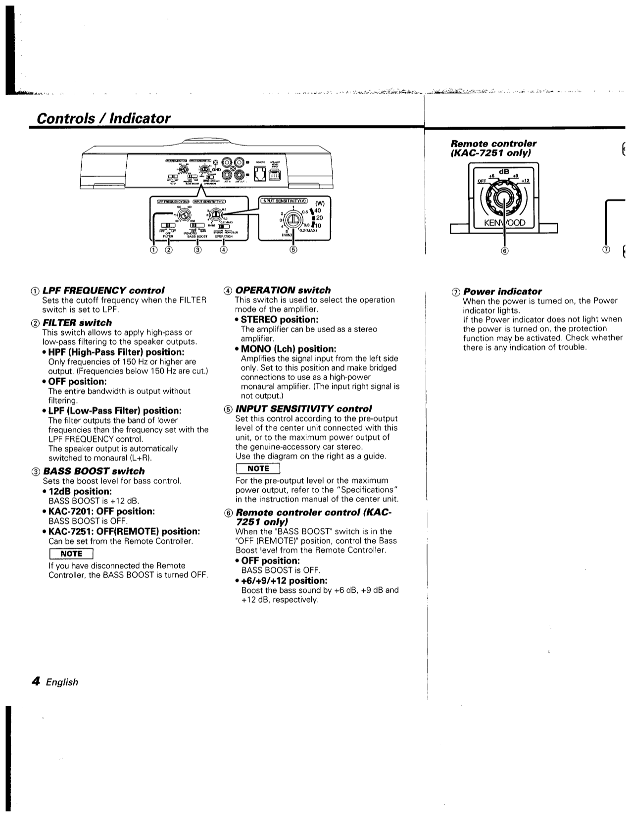 pdf manual for kenwood car amplifier kac 7201 rh umlib com 800 Watt Kenwood Amp Kenwood KAC 606
