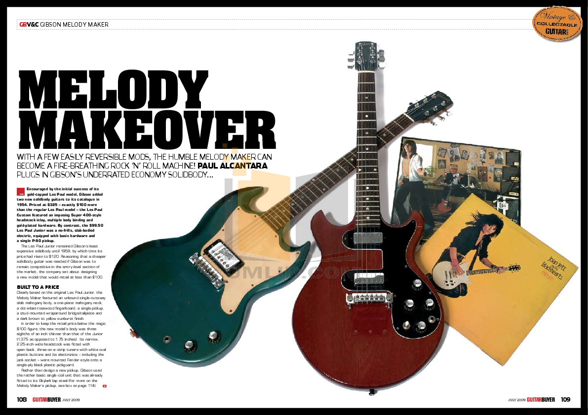 Download free pdf for Gibson Les Paul Junior Double Cutaway