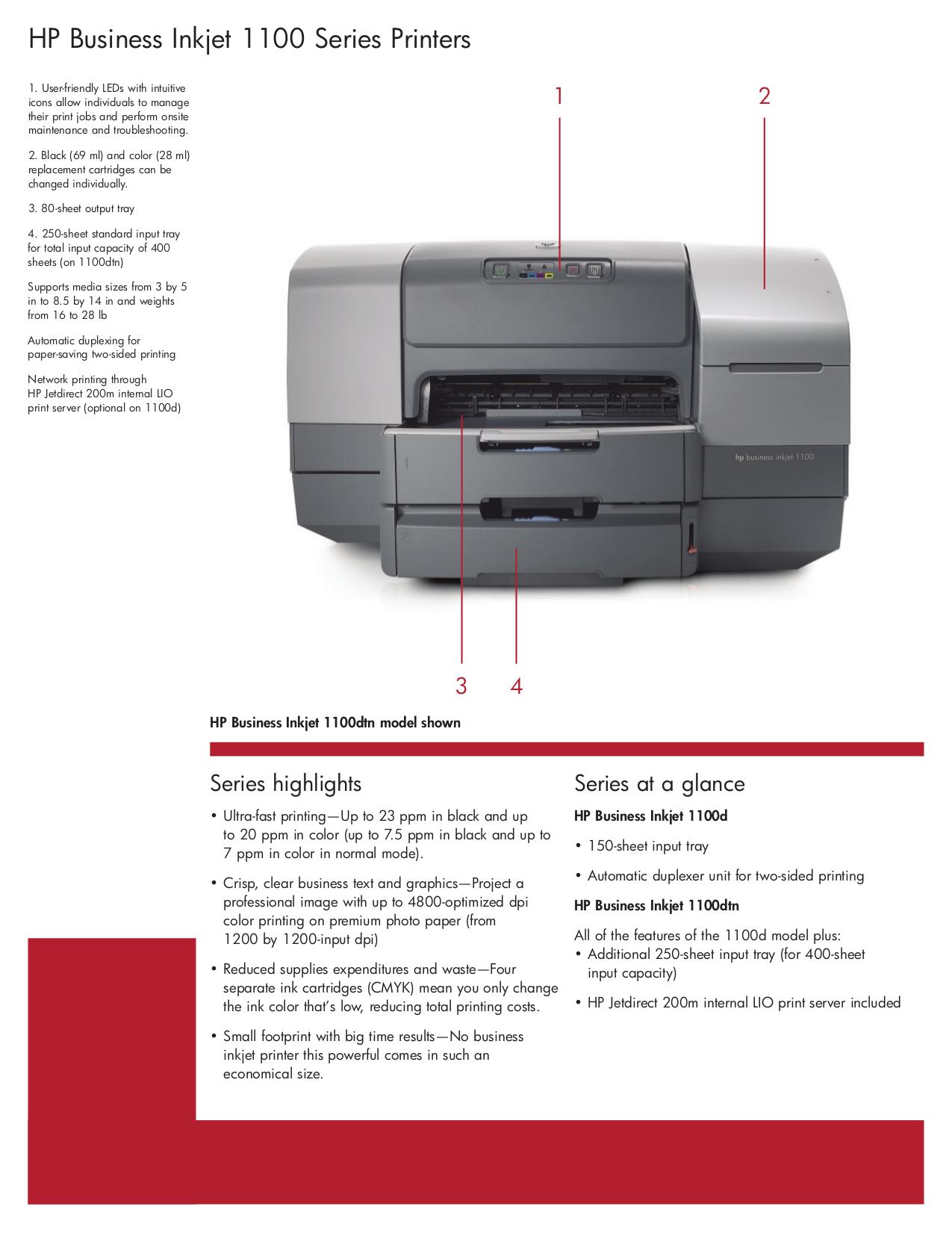 Hp Inkjet 1100 Manual One Word Quickstart Guide Book Laserjet 1100a Service Pdf For Printer Business 1100d Rh Umlib Com