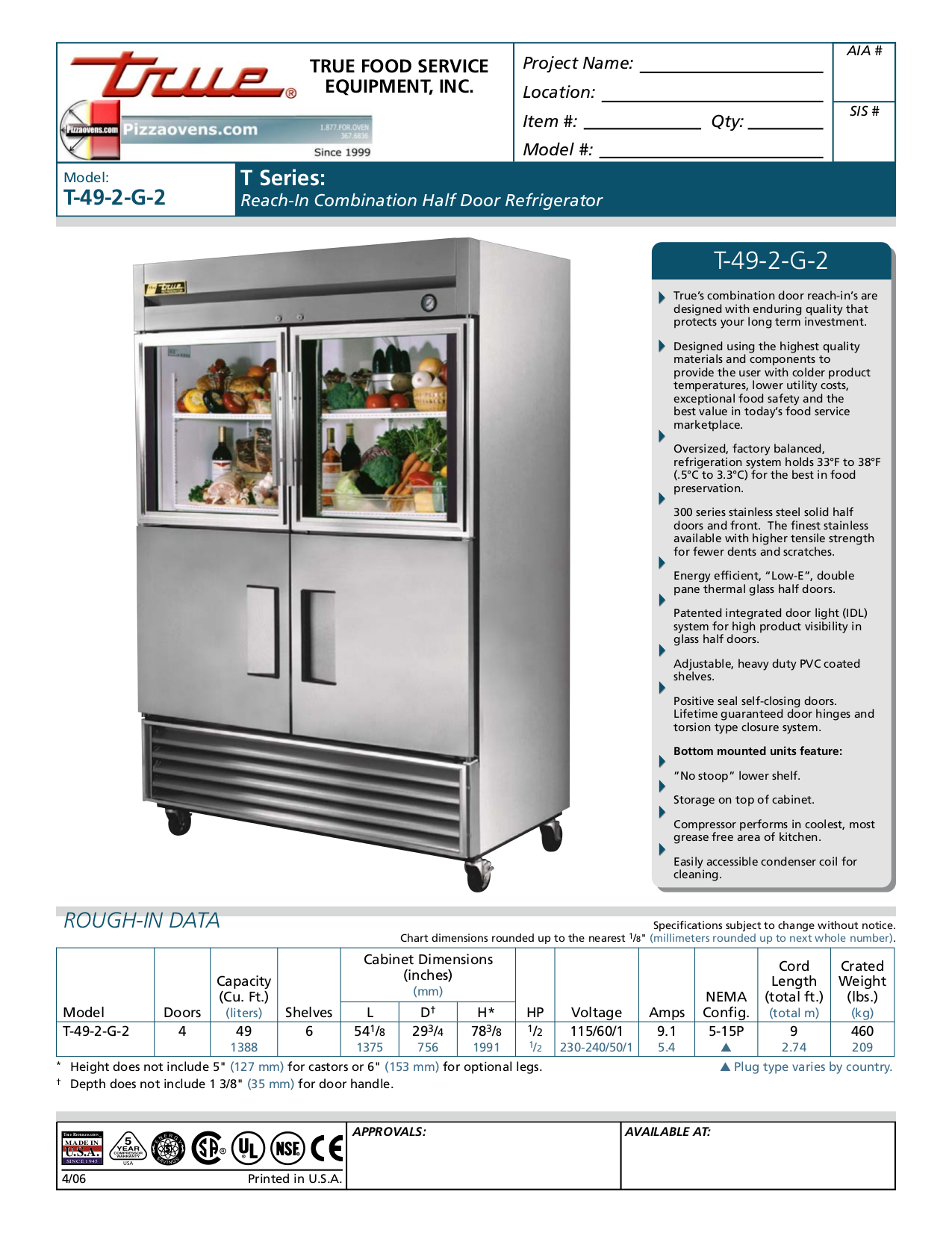 True Refrigerator T 49 Manual Image Compressor Wiring Diagram For 2 G