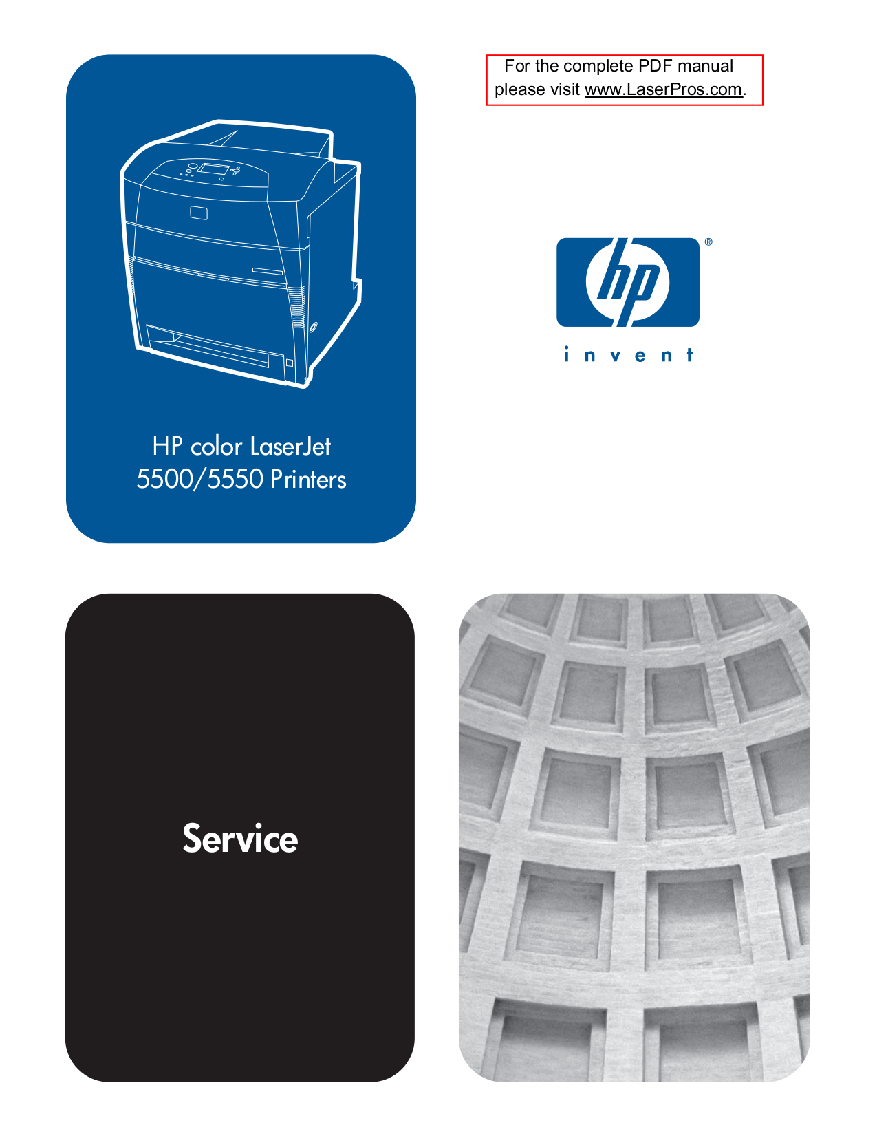 pdf for HP Printer Laserjet,Color Laserjet 5550n manual
