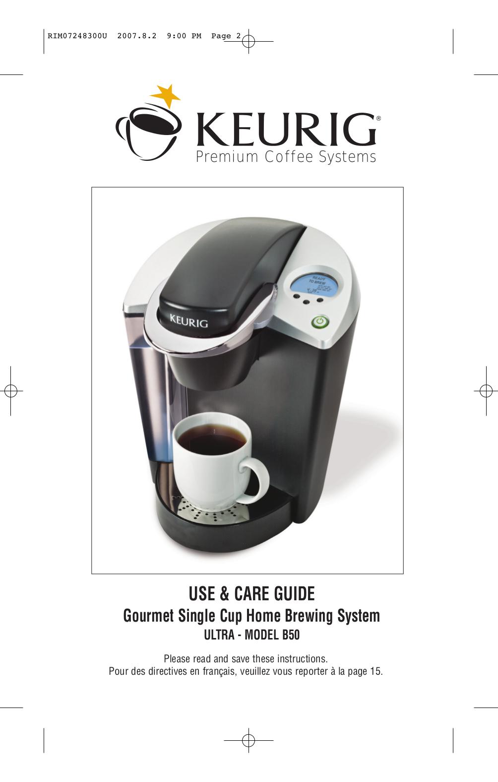 pdf manual for keurig coffee maker b50 rh umlib com Keurig B30 Keurig B70