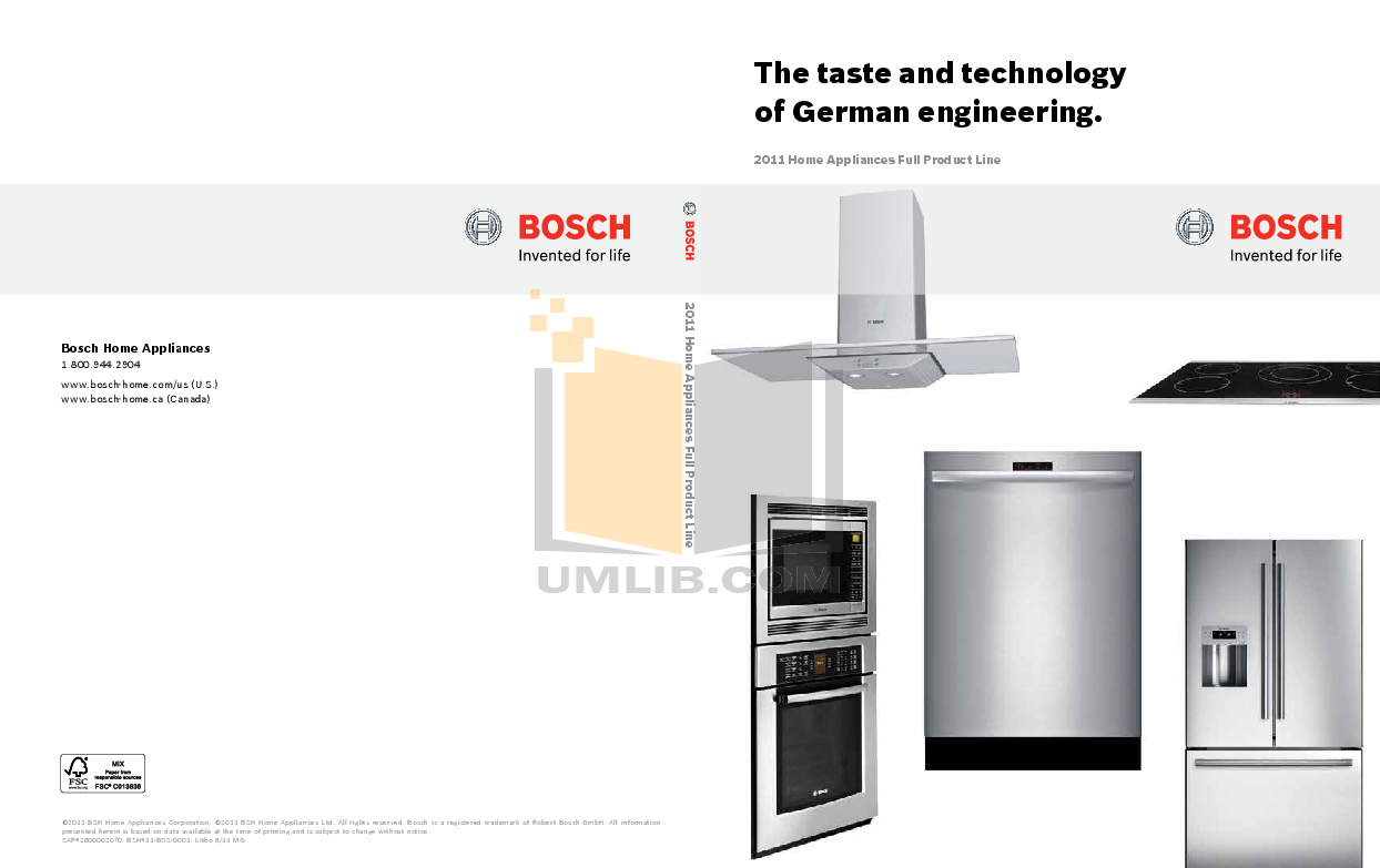 pdf for Bosch Oven HBL5460UC manual