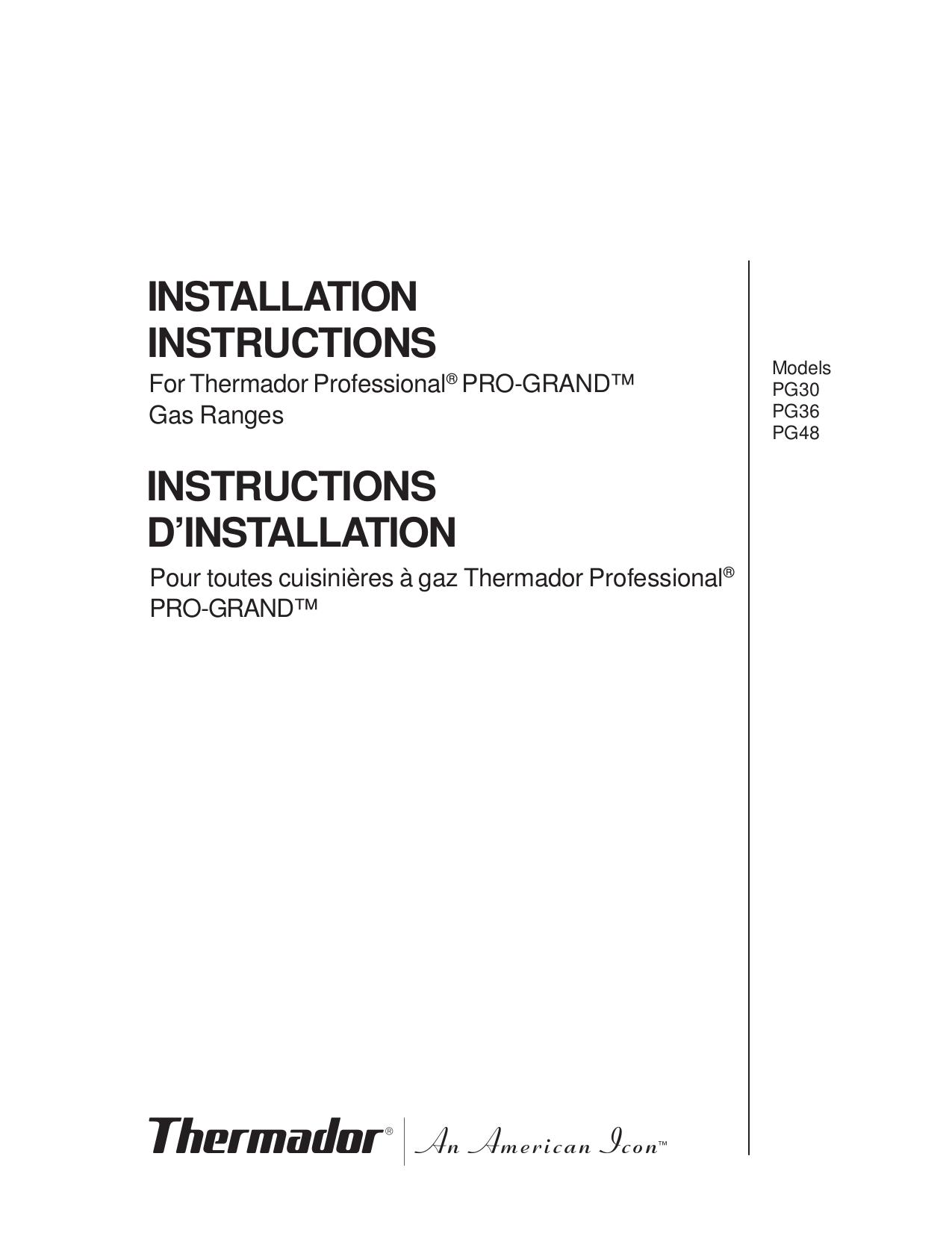 Download free pdf for thermador pcg366g range manual.