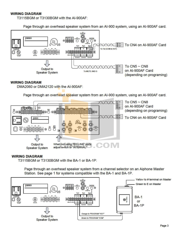 Aiphone Other LAF-3B Intercoms pdf page preview