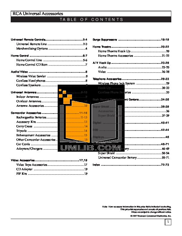 pdf for Hitachi TV 46UX25K manual