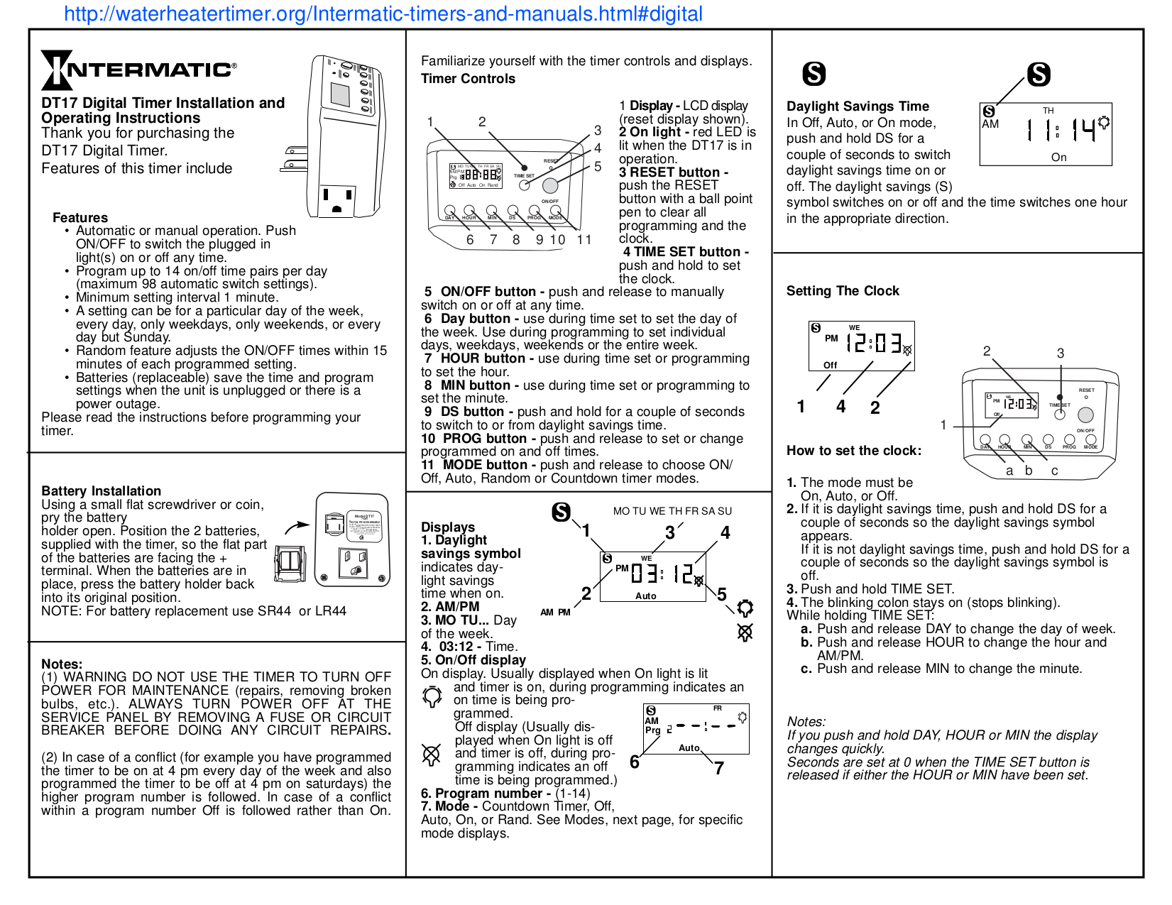 Intermatic Timer Et171c Manual Manual Guide