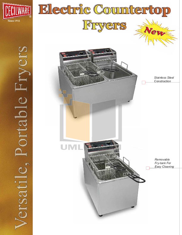 pdf for Cecilware Other EL-2X15 Fryers manual