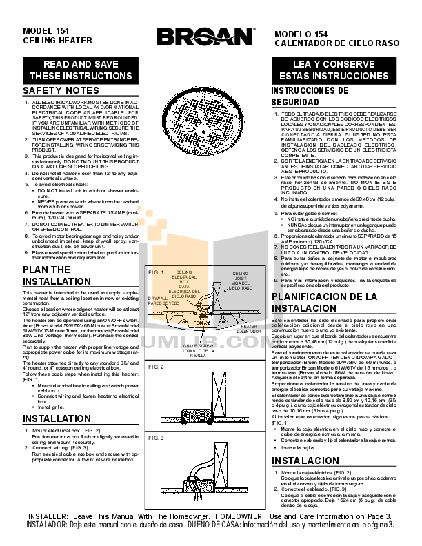 pdf manual for broan nutone heater 154 rh umlib com