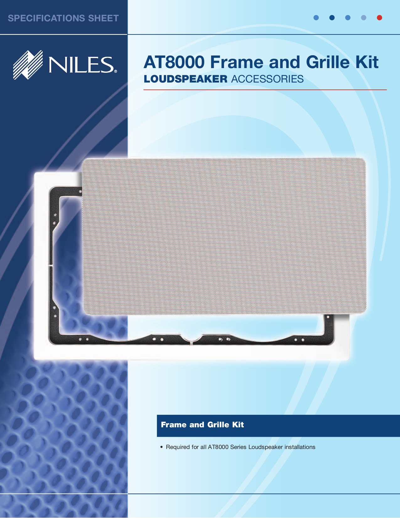 pdf for Niles Speaker AT8200 manual