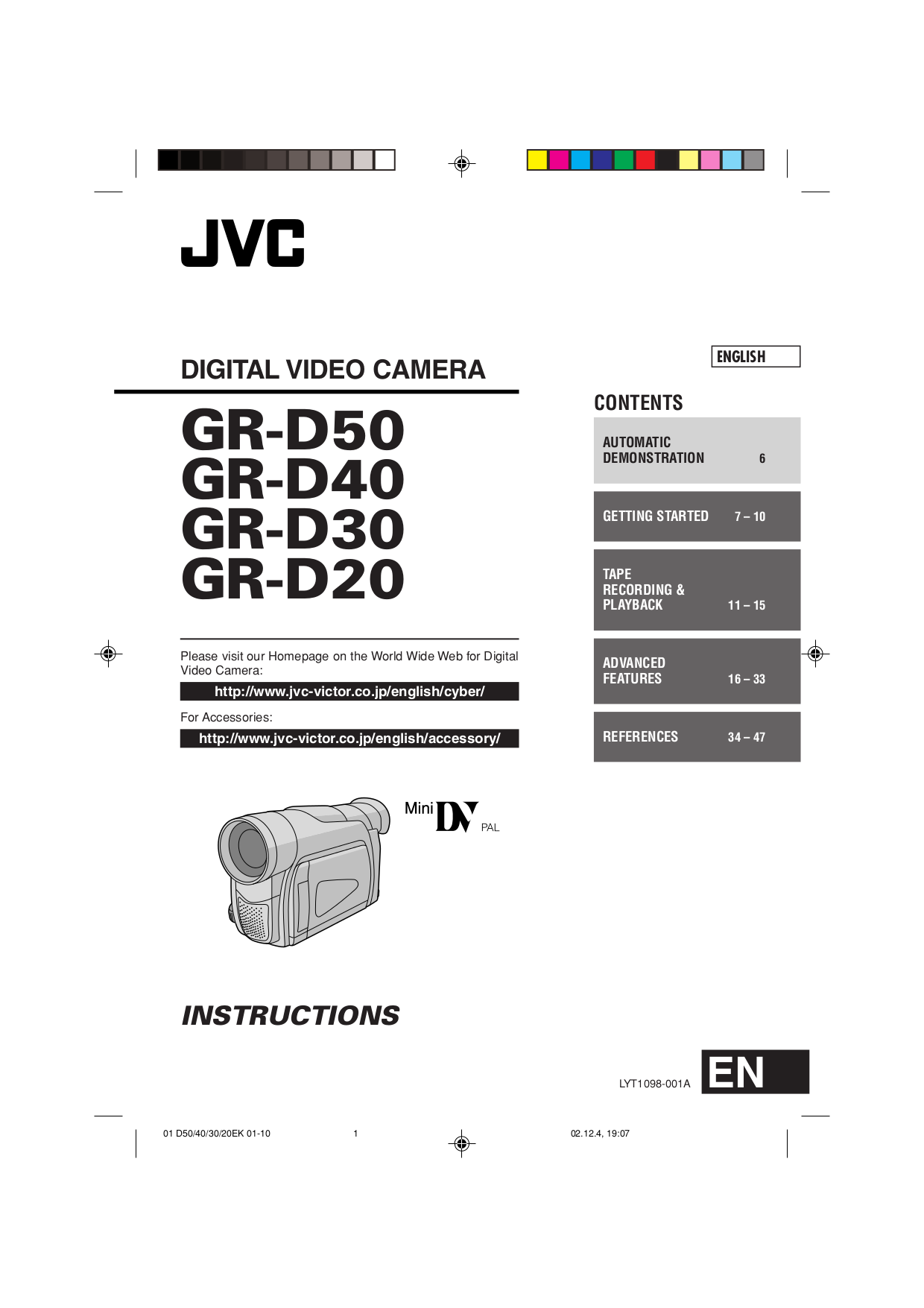 pdf for Samsung Camcorders SC-D20 manual
