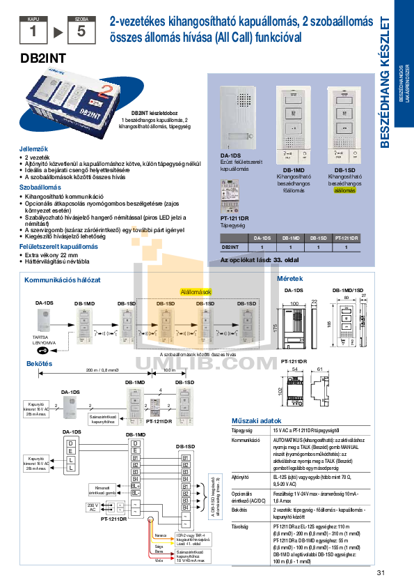 Aiphone Other IE-DL1 Intercoms pdf page preview