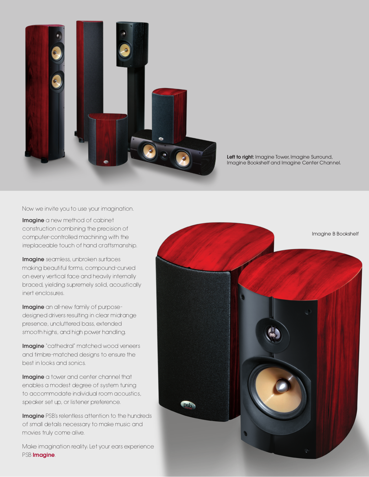 PSB Speaker Imagine B Pdf Page Preview