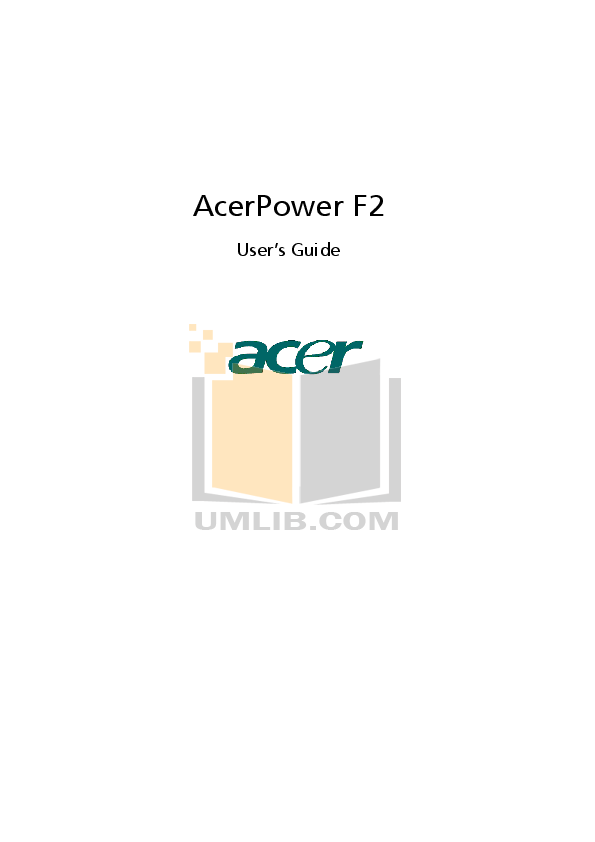 Acer Desktop AcerPower SE pdf page preview