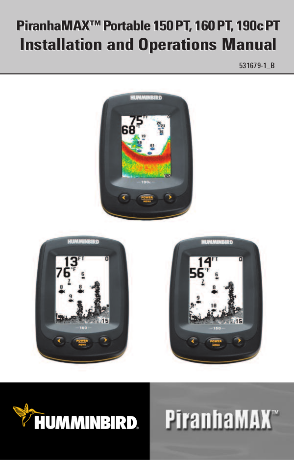 Humminbird GPS Piranha Max 10 pdf page preview