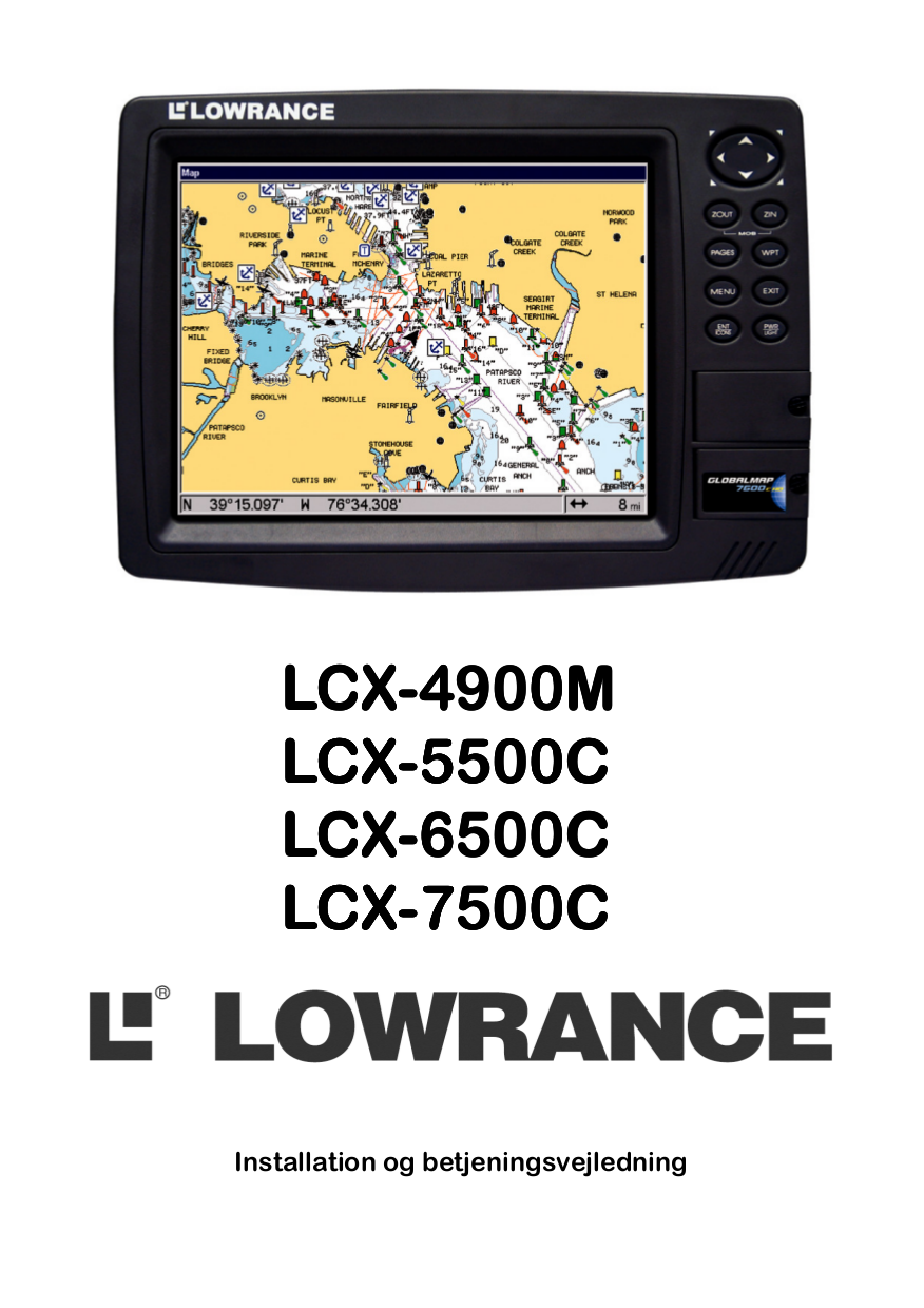 pdf for Lowrance GPS GlobalMap 5500C manual