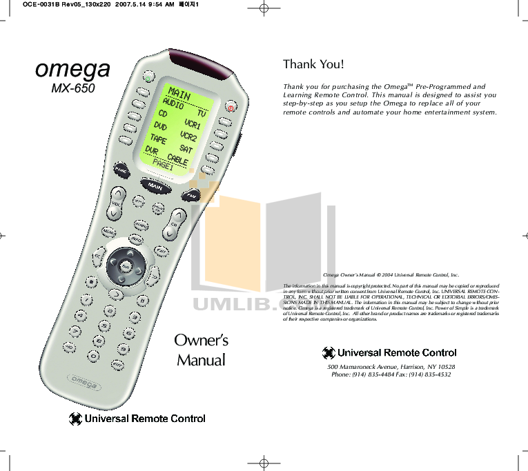 pdf for Audiovox Car Receiver AV-2000 manual