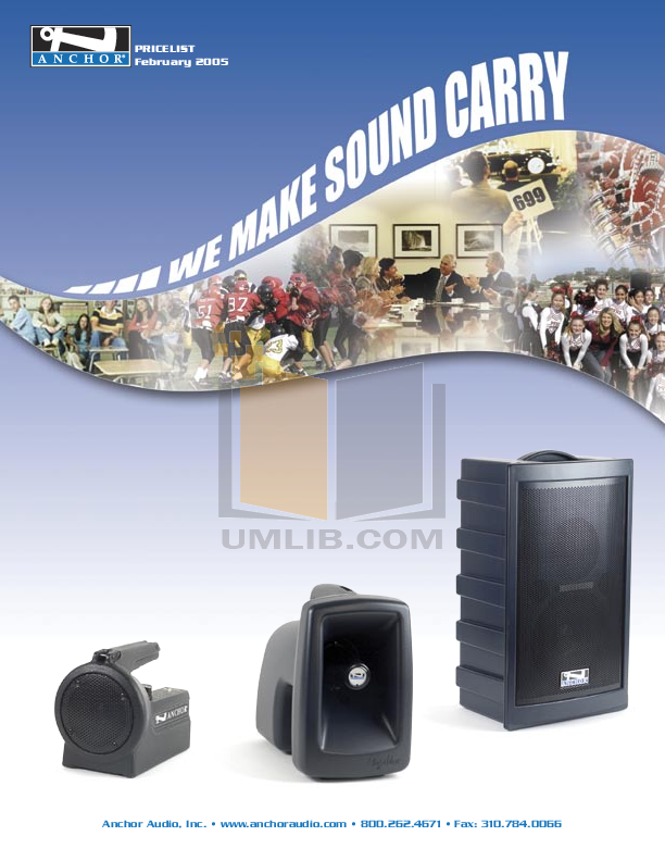 pdf for Anchor Speaker MEGA-6000U2 manual