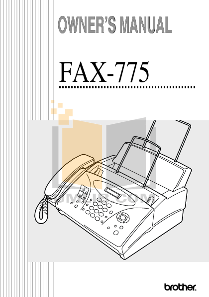 pdf for Brother Fax Machine IntelliFAX 720M manual